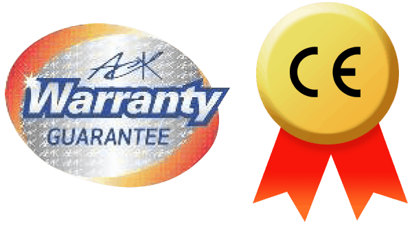 ack warranty guarantee with CE mark