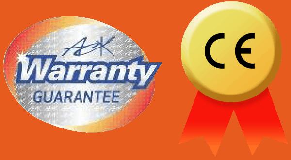 ack保修保證與CE標記