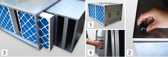 carbon cell filter system unit installation