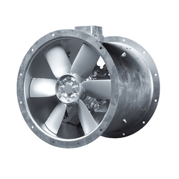 cased axial extractor fan flakt woods