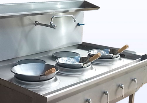 induction wok cooker range