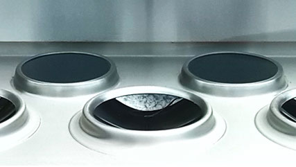 rear induction hobs for wok cookers