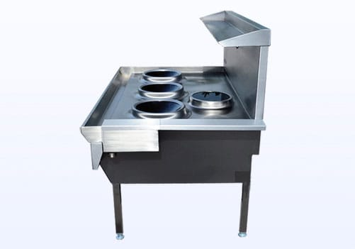 induction wok cooker side view
