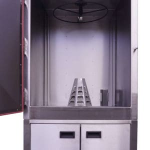heat cone inside roaster oven
