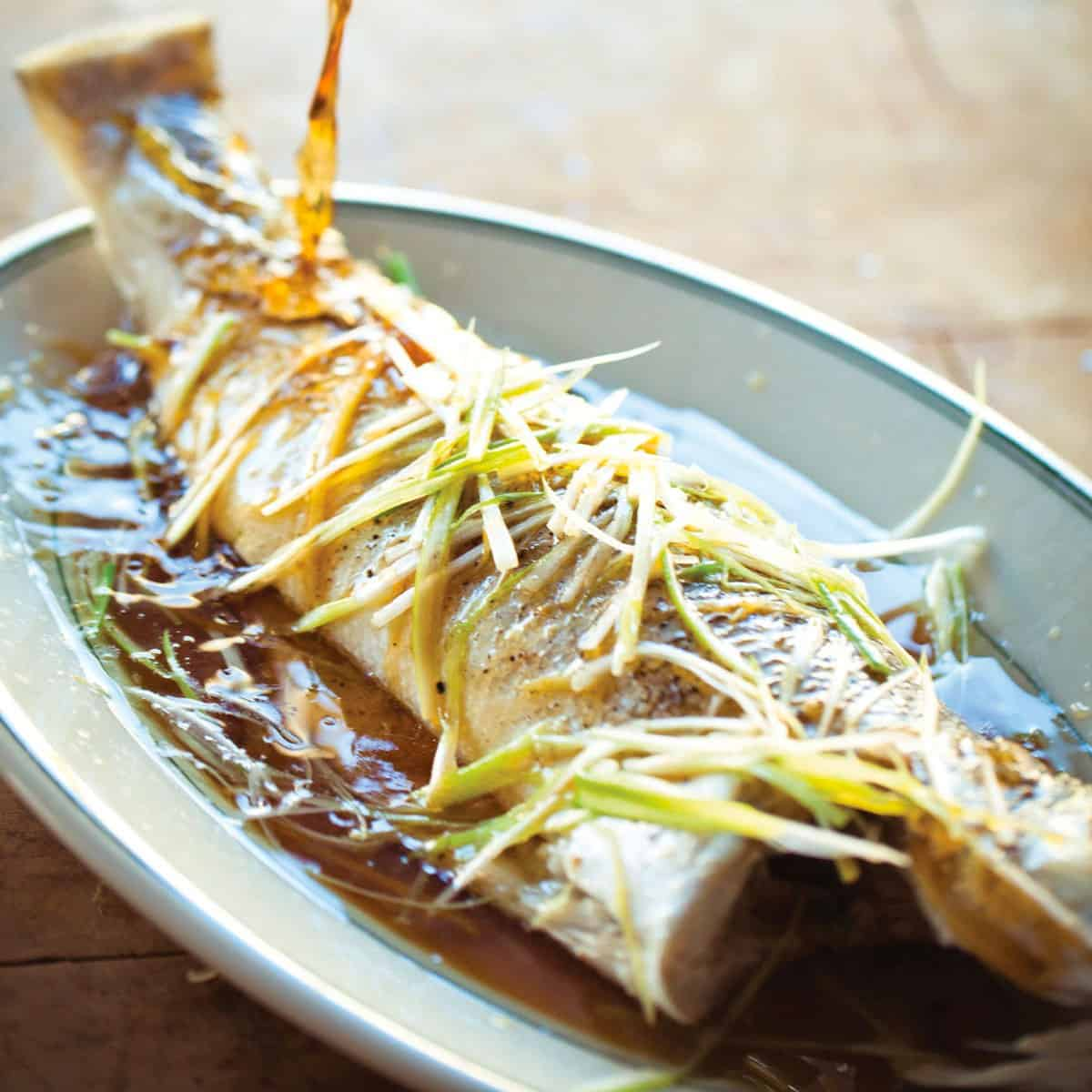 steamed sea bass recipe