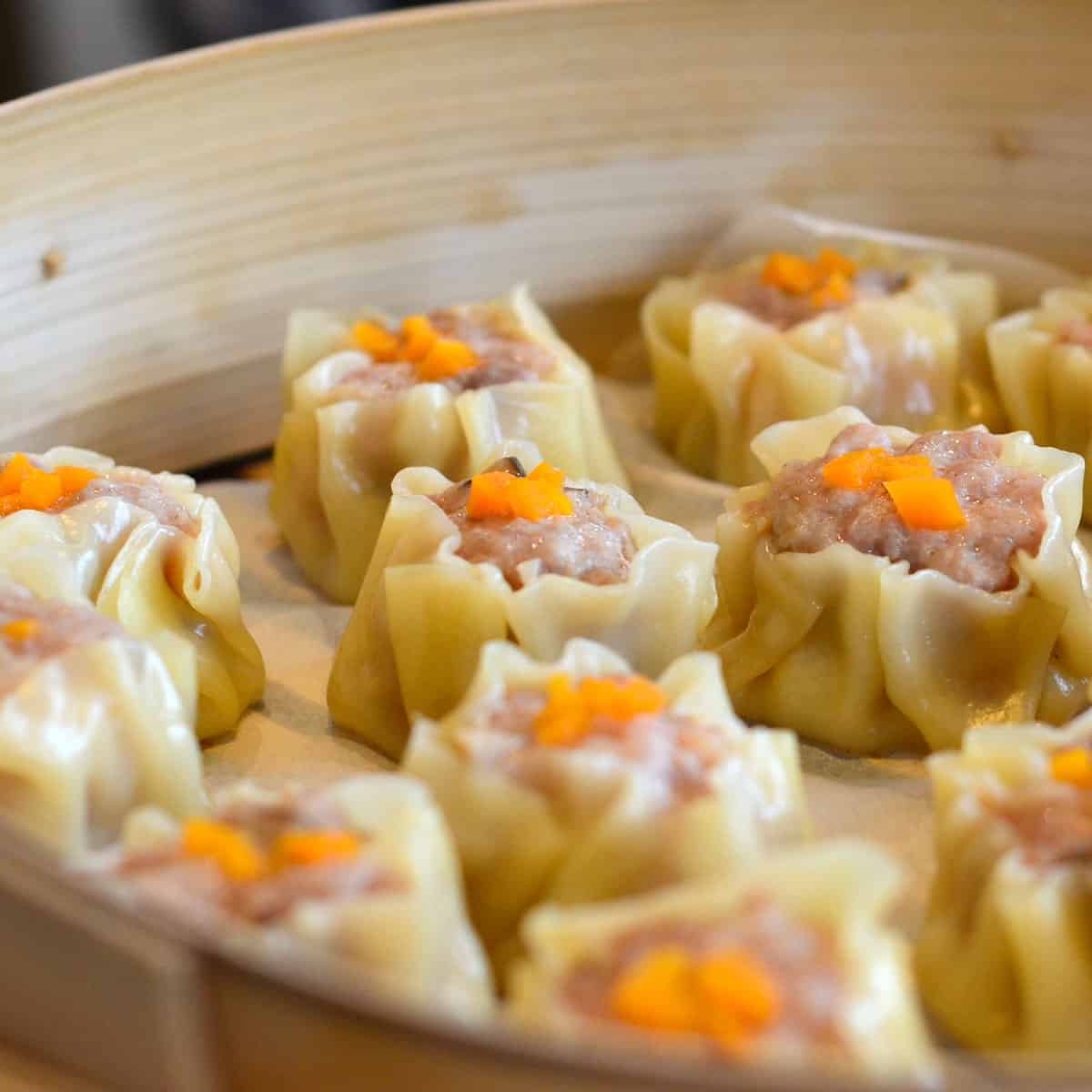 steamed siu mai
