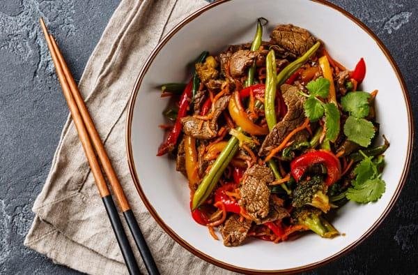 wok cooking with medium duty wok cooker