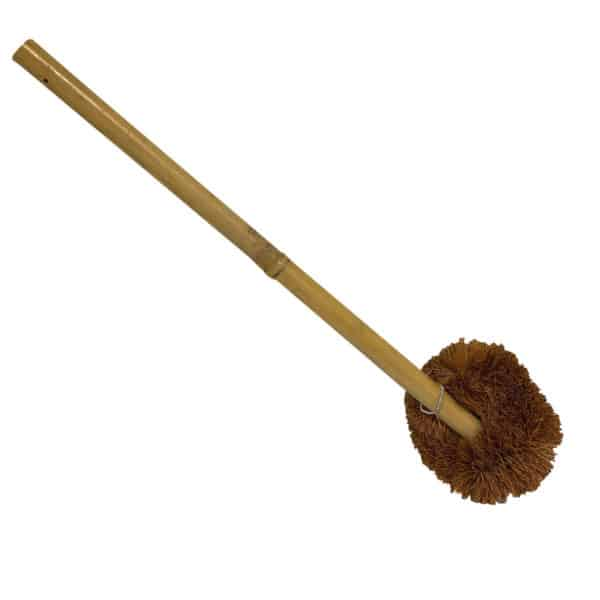 bamboo and coconut coir cleaning brush