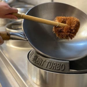 bamboo and coconut coir wok cleaning brush