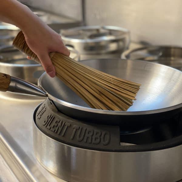 bamboo wok cleaning brush