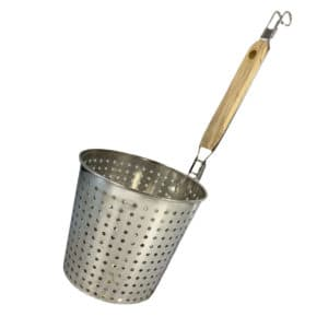 noodle and pasta boiler basket with round holes